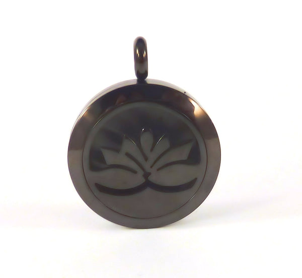 Aromatherapy Diffuser Pendant #1 and Chain - Black