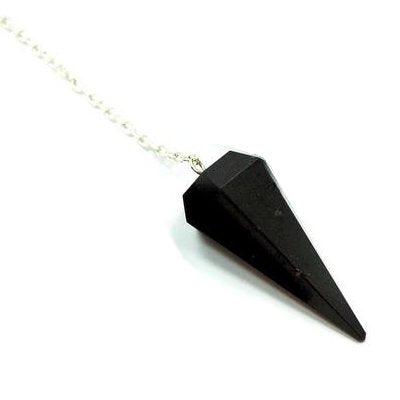 Black Tourmaline 6 Sided Pendulum