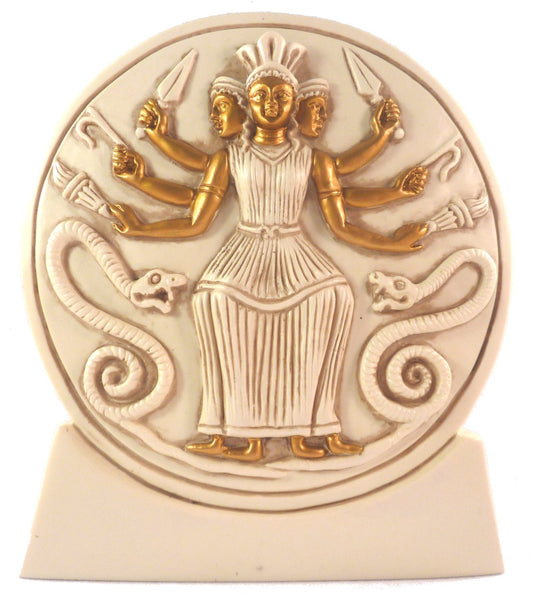Hecate Ivory and Gold Statue