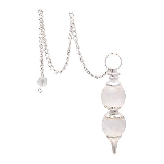Natural Quartz Crystal Double Sphere Pendulum