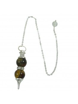 Tiger Eye Double Sphere Pendulum