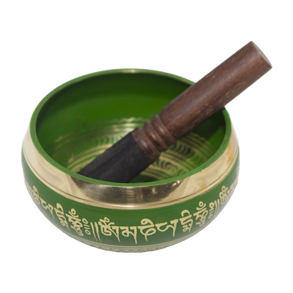 Tibetan Singing Bowl - Green