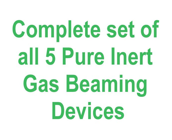 All 5 Pure Inert Gas Beaming Devices - Complete Set