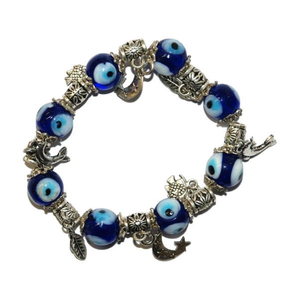 Blue Eye of Protection Charm Bracelet