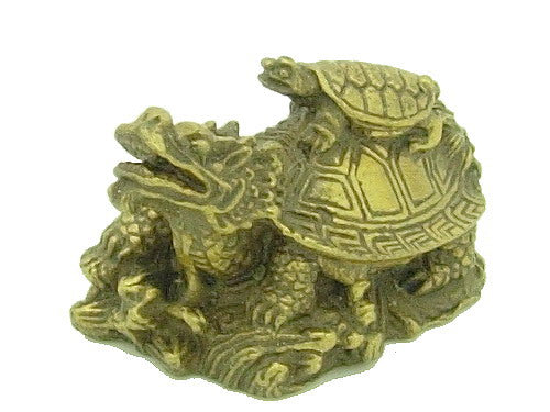 Brass Dragon Tortoise Carrying a Child