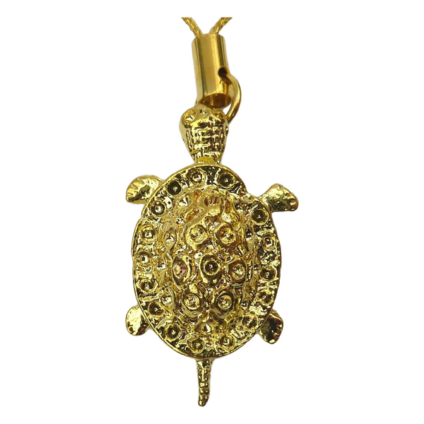 Gold Plated Hanging Feng Shui Turtle