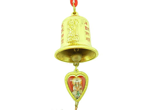 Golden Kuan Yin Bell for Protection