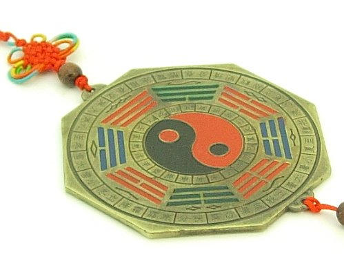 Pakua Mirror Amulet with 12 Zodiac Animals