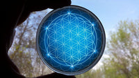 Spiritual Energy Disc: Flower of Life - The Blue Energizer