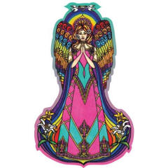 Rainbow Angel Harmony Fridge Magnet