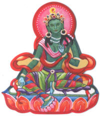 Green Tara Harmony Fridge Magnet