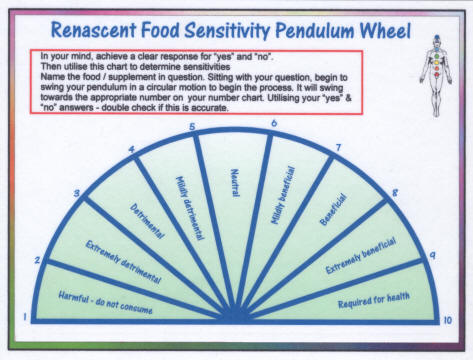 Food Sensitivity Pendulum Wheel
