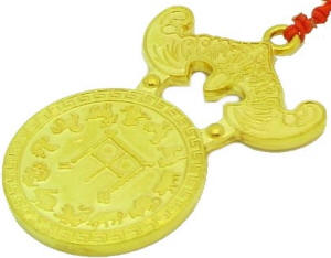 Golden Bat Coin Amulet