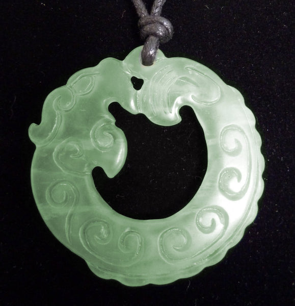 Jade Chinese Dragon Pendant