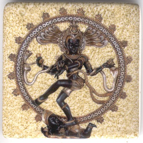 Nataraj Ceramic Fridge Magnet