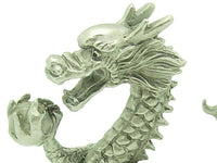 Pewter Victory Dragon Grasping Wealth