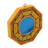 Concave Yellow and Black Bagua Mirror
