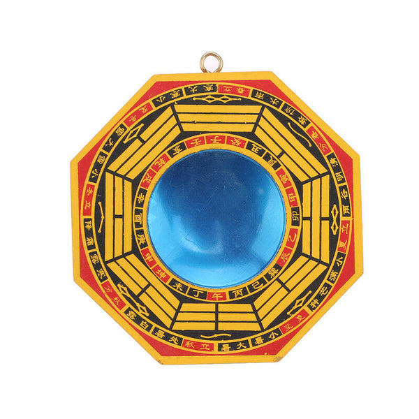 Convex Yellow and Black Bagua Mirror
