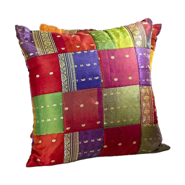 Sari Patchwork Cushion