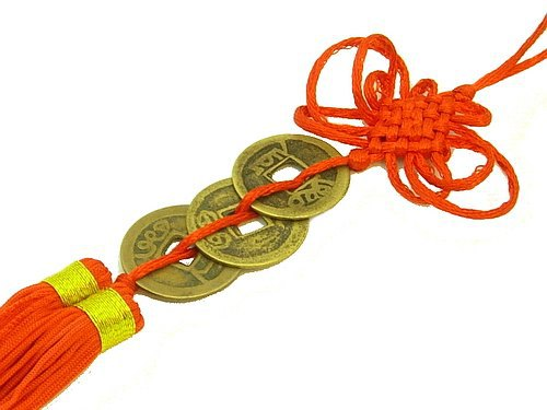 Three Coins With Mystic Knot Tassel
