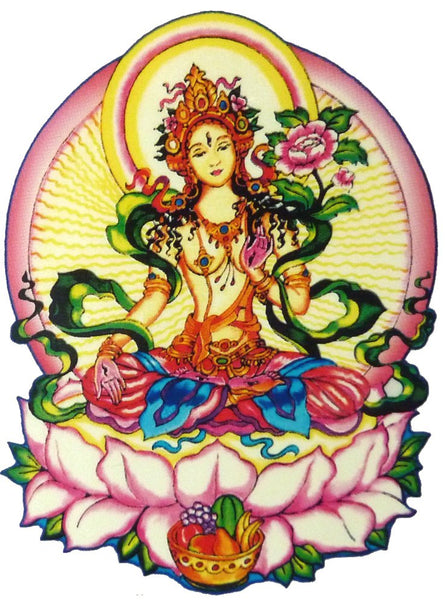 White Tara Window Sticker