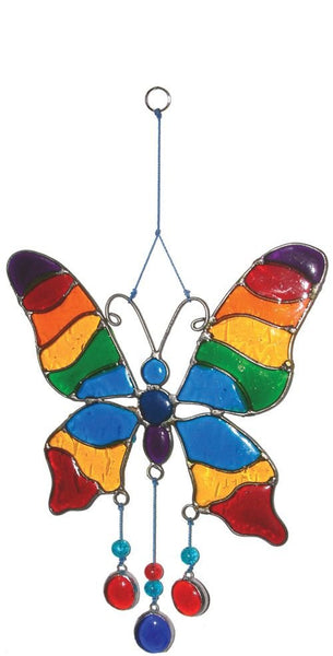 Butterfly Hanging Wood Resin Decoration