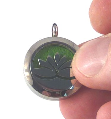 Locket loaded with Pad and Essential Oil