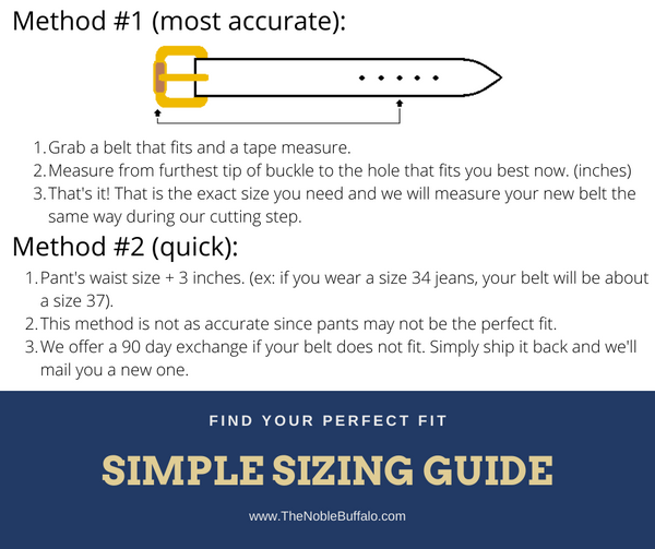 How To Measure Your Leather Belt Size