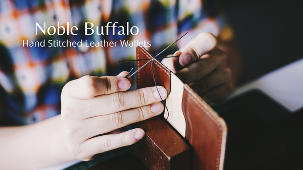 Noble Buffalo Hand Stitched Leather Passport Wallet