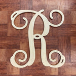 Wooden Door Monogram-single vine letter