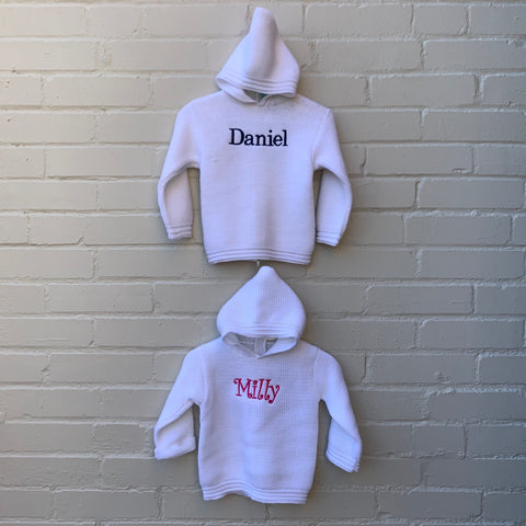 Hooded Baby Sweater