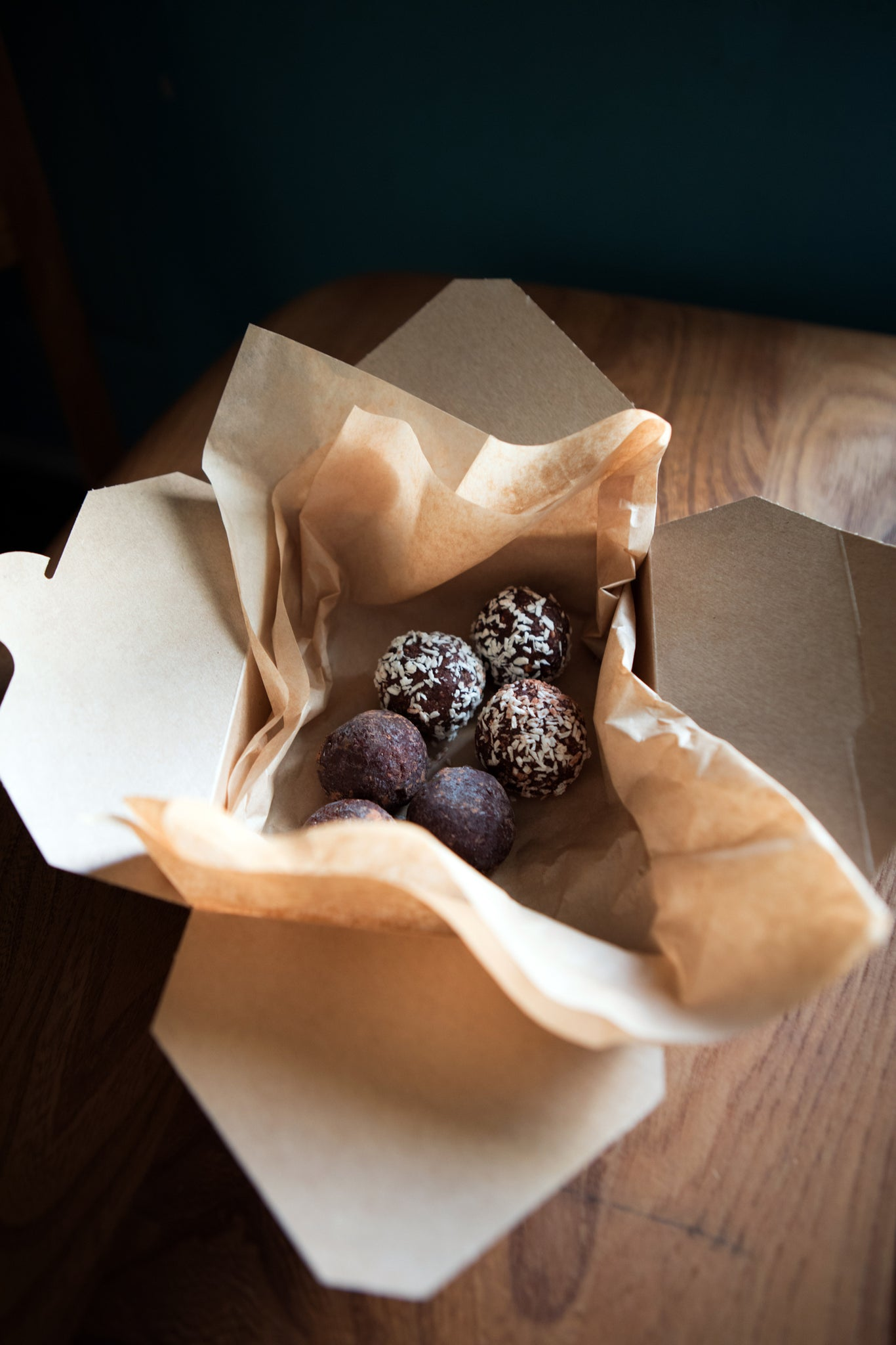 Cacao and Date Energy Balls