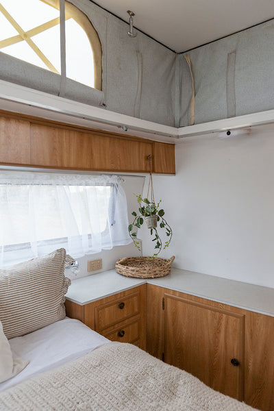 A big caravan with room to move and relax.