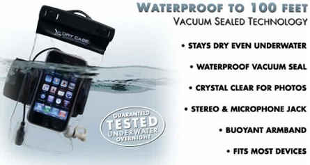 DryCASE Waterproof Underwater mp3/mobile/cell phone Case+Armband