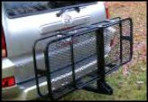 """HitchMate Mounted Cargo Carrier 2"""" Receiver Hitch Rack/Luggage Rack"""