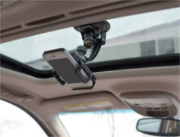 Car phone mount attachable to any window