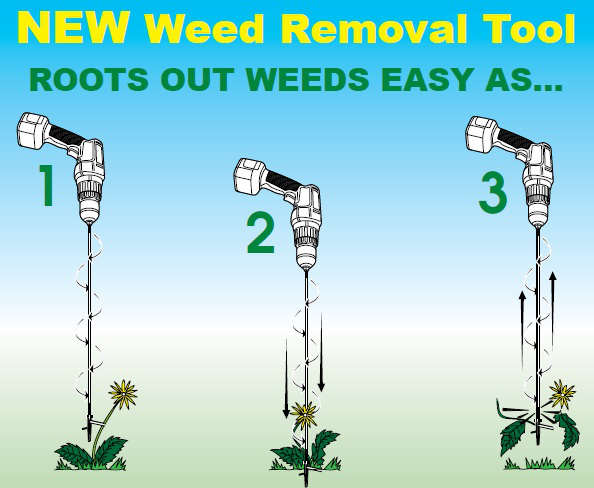Weed Spinner Gardening Tool for Getting Rid of Weeds
