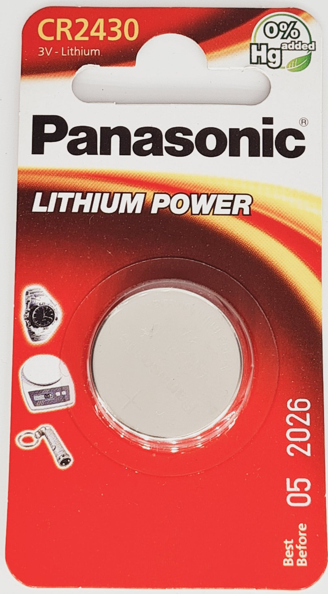 Panasonic CR2430 3V Lithium Batterie Knopfzelle 1er Pack Blister