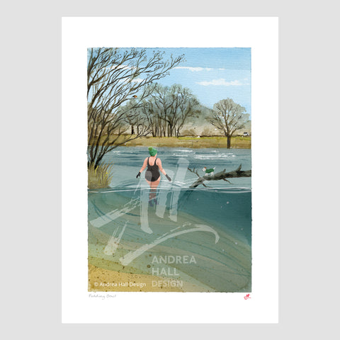 Signed wild swimming art. Suzanna Swims
