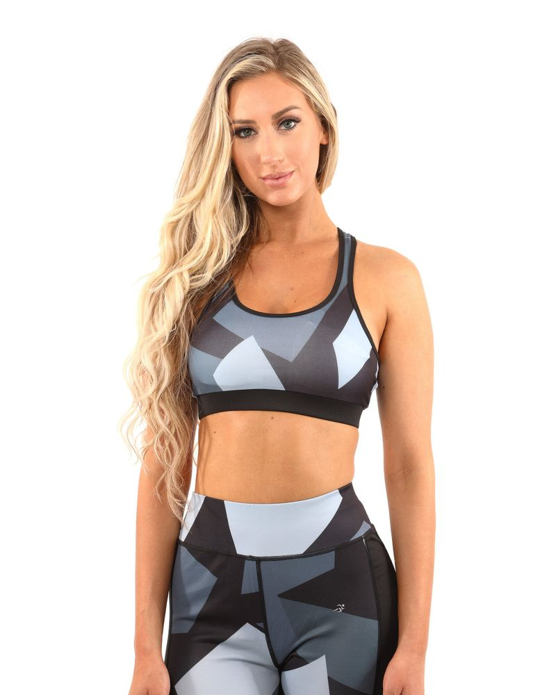 Bondi Sports Bra - Black/Grey