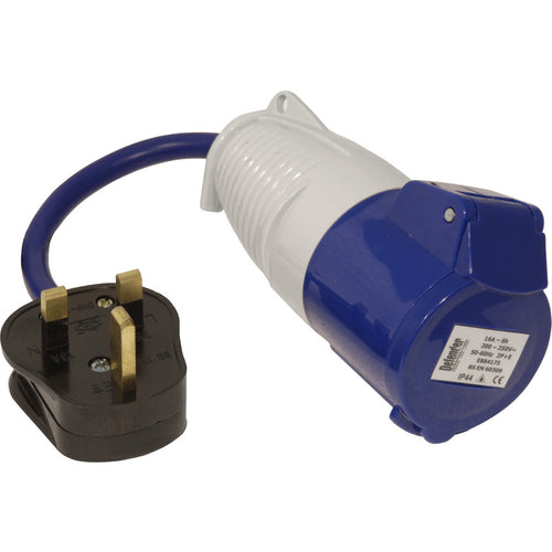 Defender 230V 13amp to 16amp Fly lead Socket Convertor E85301
