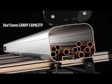 Load and play video in Gallery viewer, Van Guard VG200-3S Maxi 3 metre silver pipe carrier rear opening