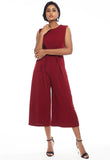 Culotte Jumpsuit with Sash Tie