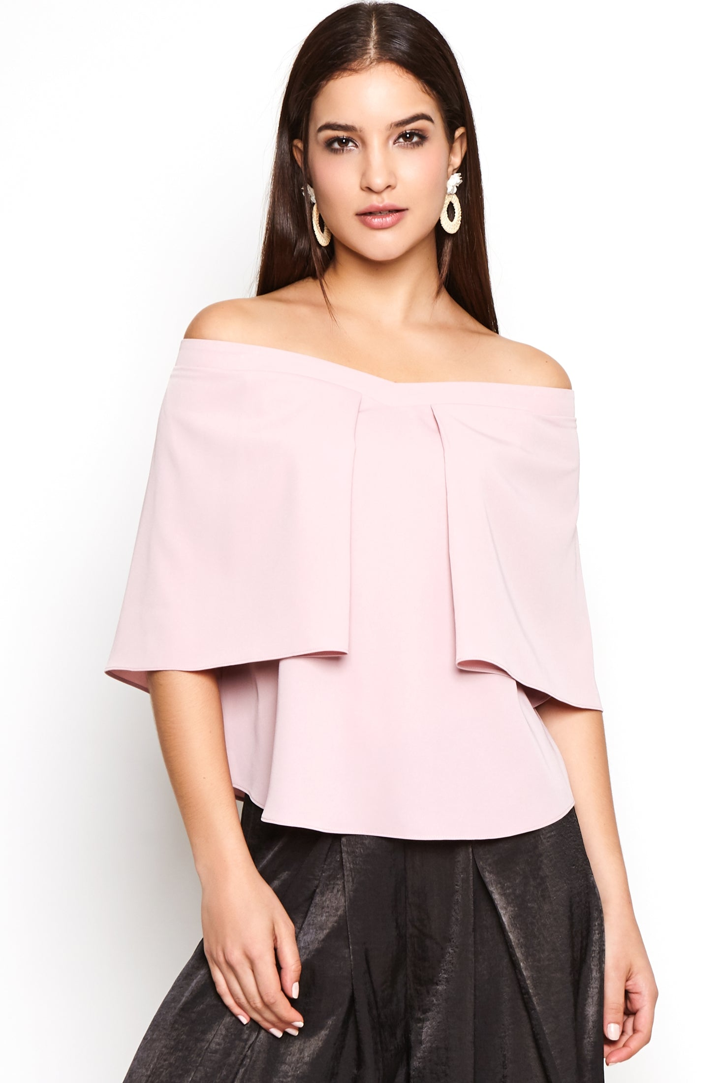 Batwing-Sleeves Cape Top