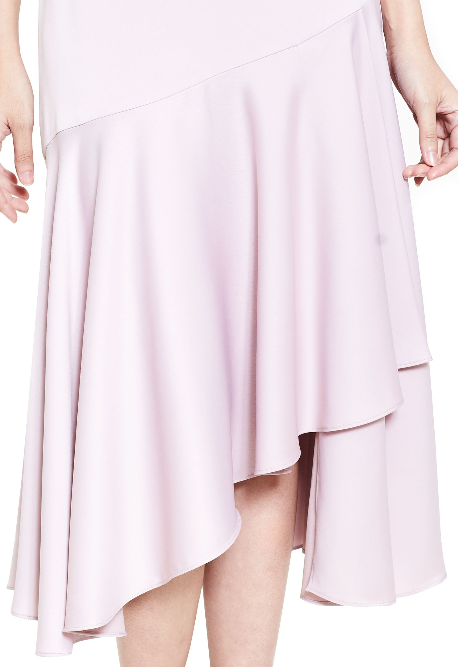 Basic Ruffled Midi Skirt
