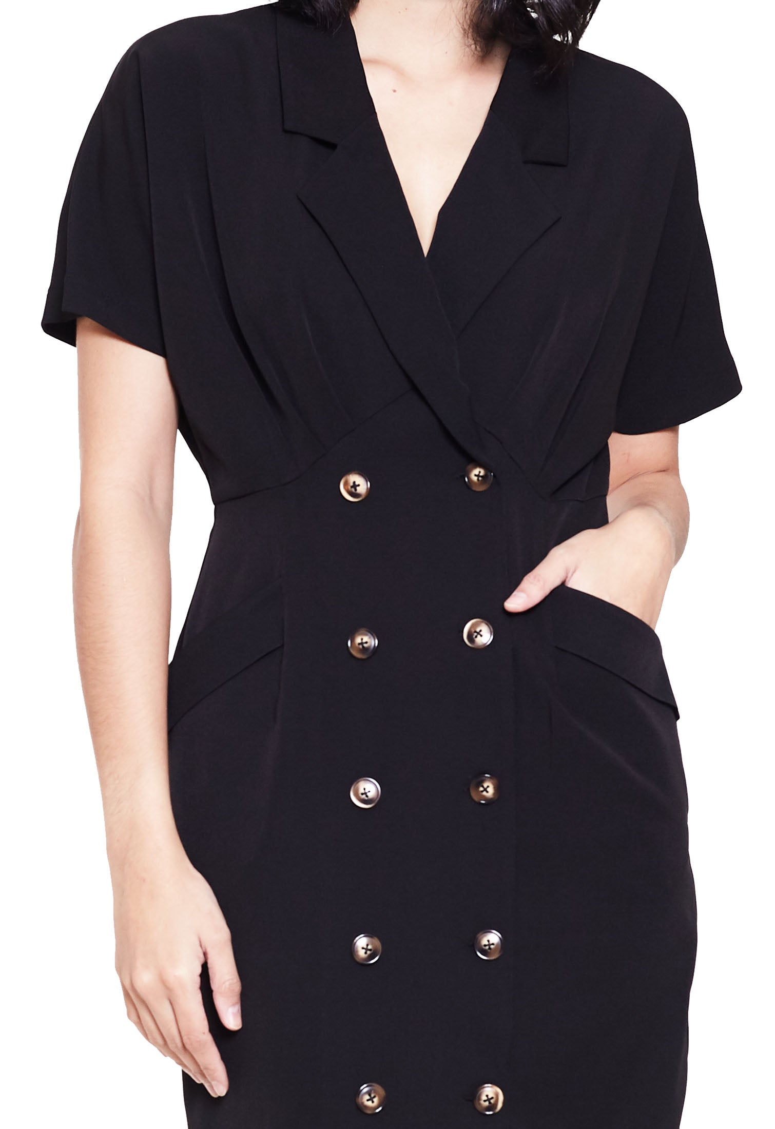 Double Button Trench Dress