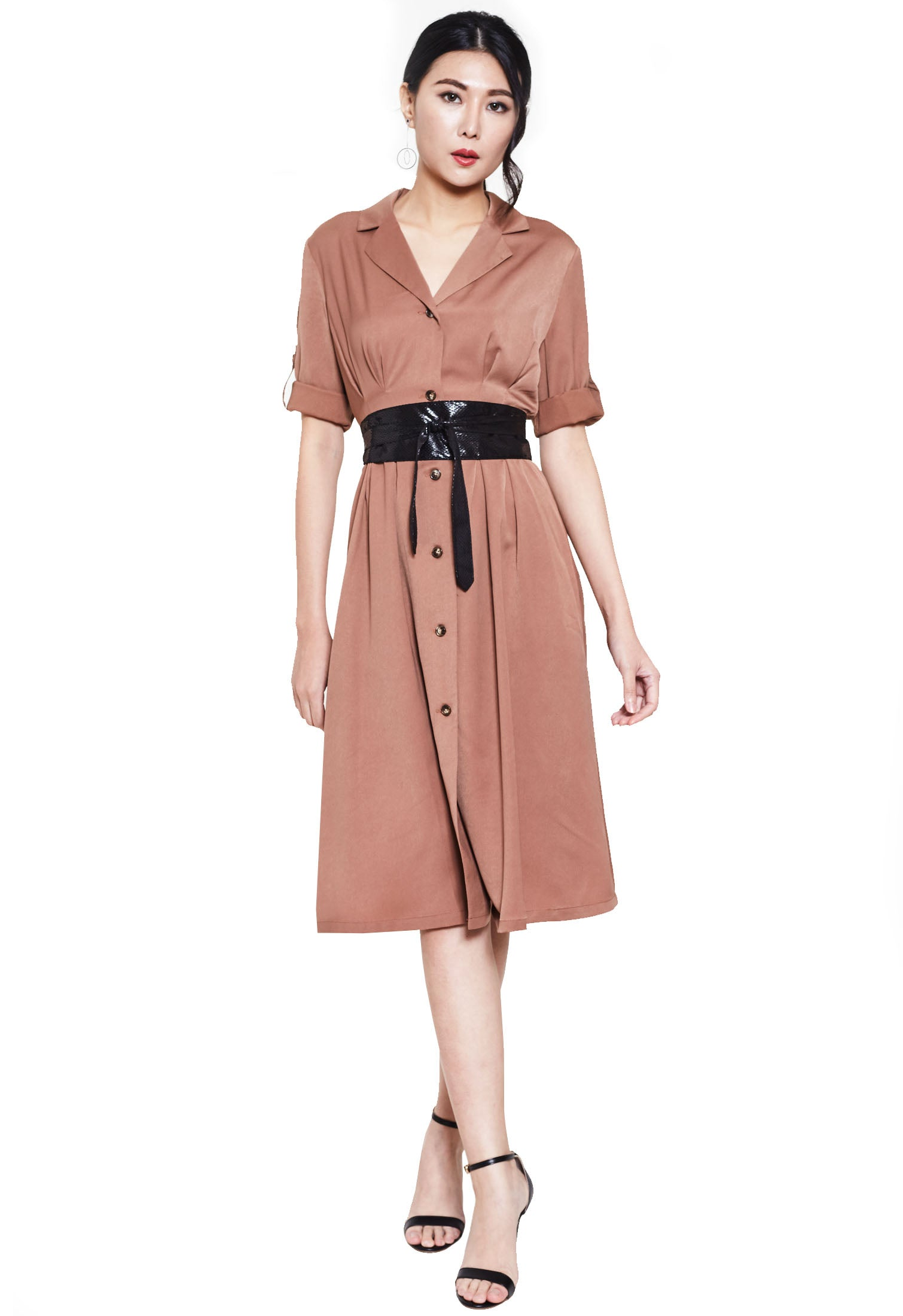 Button Up Trench Dress