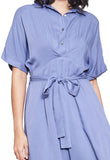 Basic Collar Shirt Dress