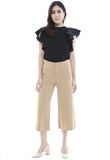 Side Eyelet Crop Pants