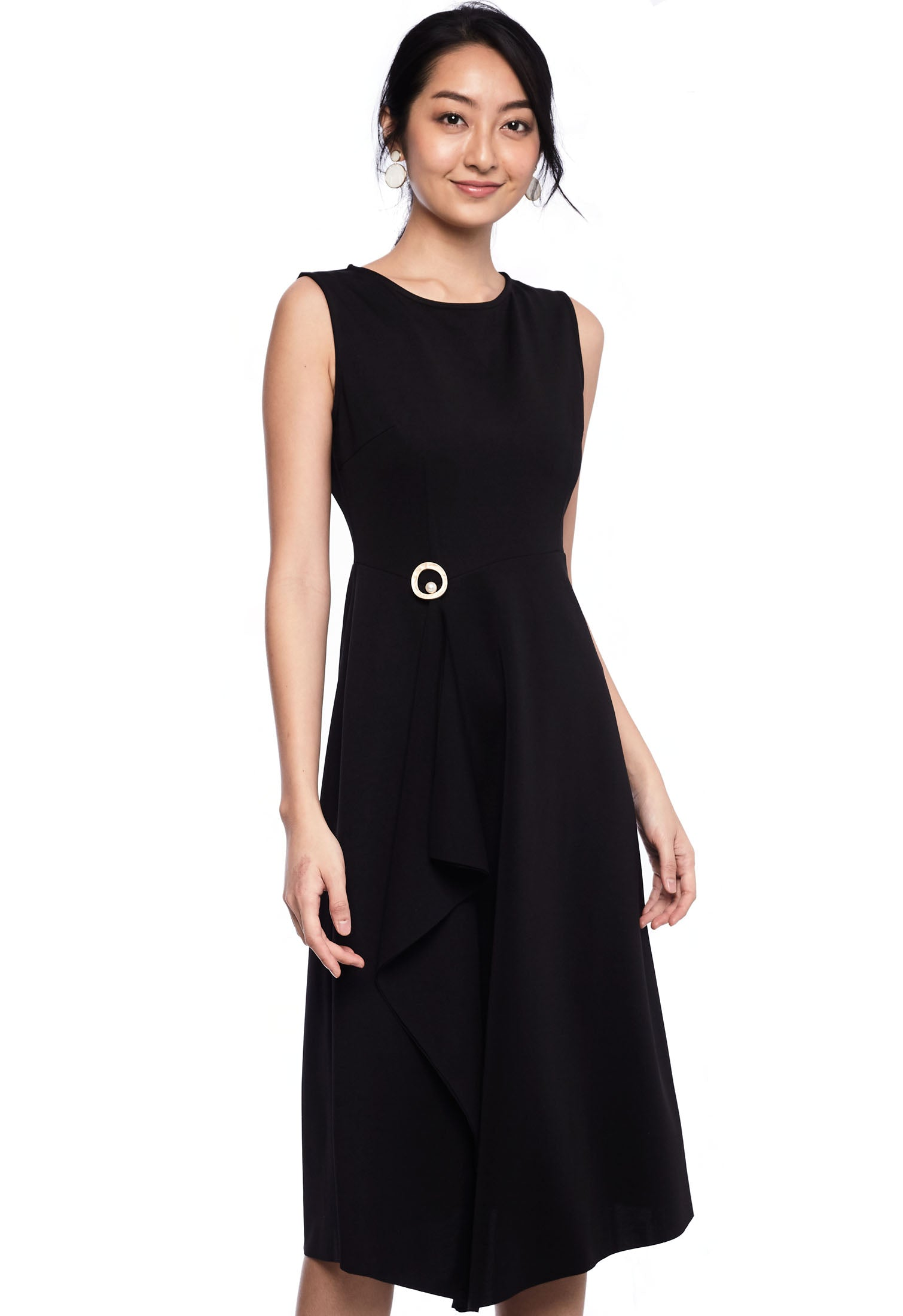 Side Ruffle Sheath Dress